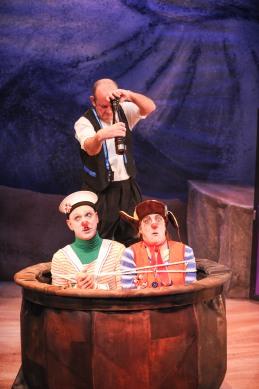 L-R - Scott Florence (Pomme), Pierre Brault (Prospero), Margo MacDonald ('Restes)
