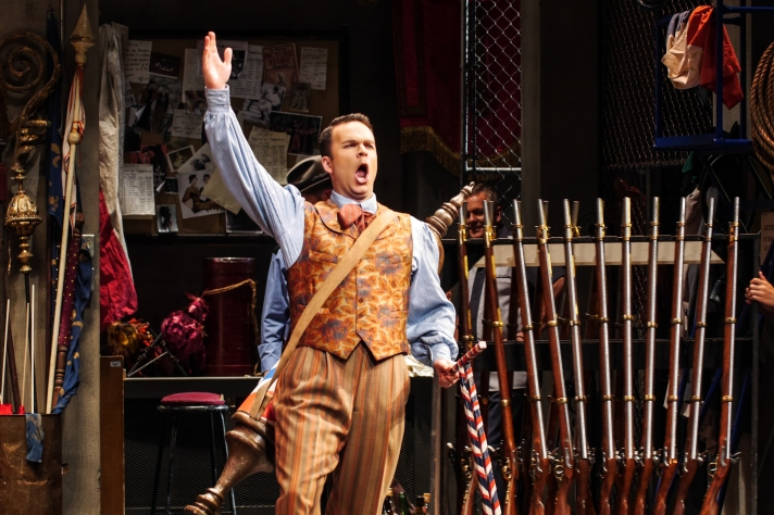 Pictured: Joshua Hopkins as Figaro, The Barber of Seville; photography by Andrew Alexander
