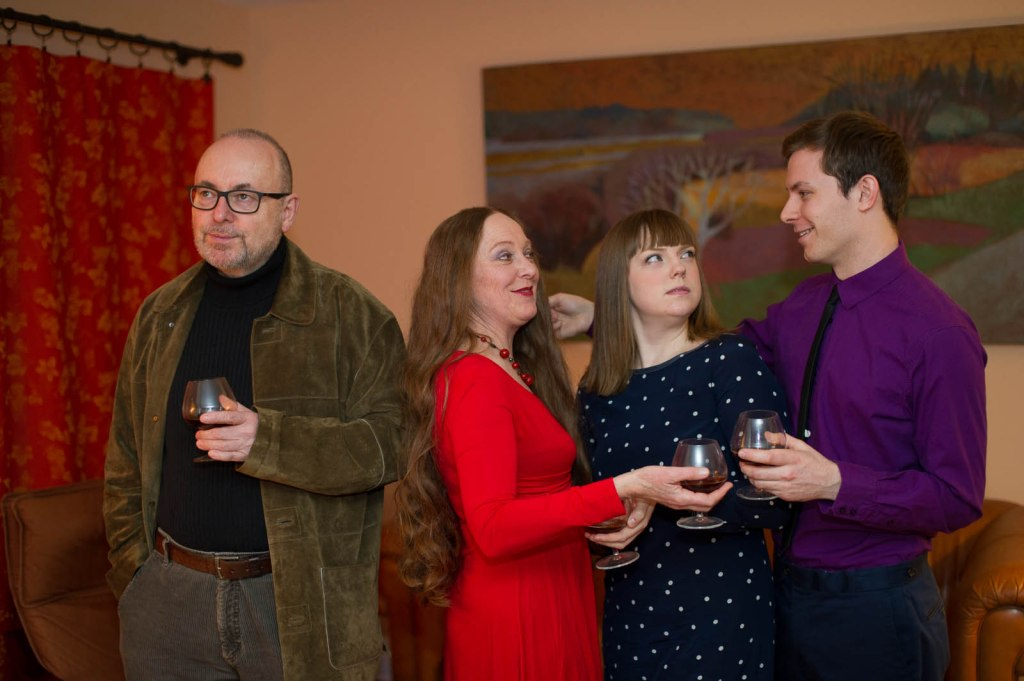 Pictured L-R: Paul Rainville, Rachel Eugster, Grace Gordon, and Cory Thibert; Photography by Andrew Alexander