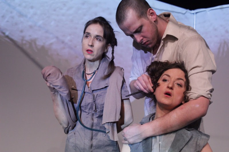 Pictured L-R: Kristina Watt, Andrew Moore, Katie Bunting (lower right); Photography by Stephanie Godin