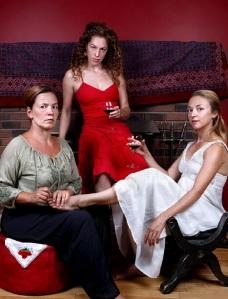 L-R: Robin Guy, Gabrielle Lalonde, and Élise Gauthier