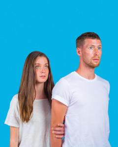 Pictured L-R: Madeleine Hall and Mitchell Rose; Photography by LOG Creative Bureau